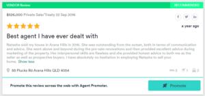 Real estate agent testimonials